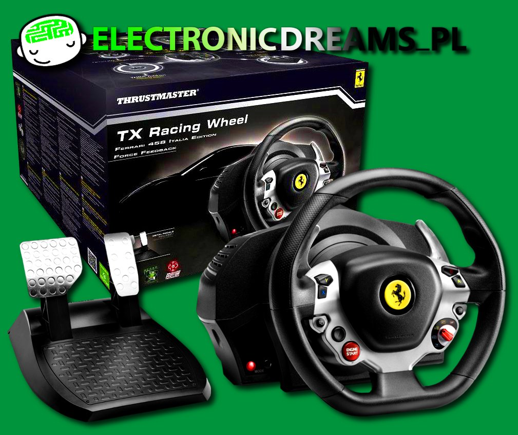 kierownica thrustmaster tx 458 italia xbox one 5127198085 oficjalne archiwum allegro. Black Bedroom Furniture Sets. Home Design Ideas